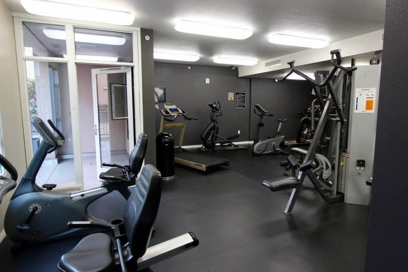 The community gym in the complex in Trellis Downtown San Diego CA