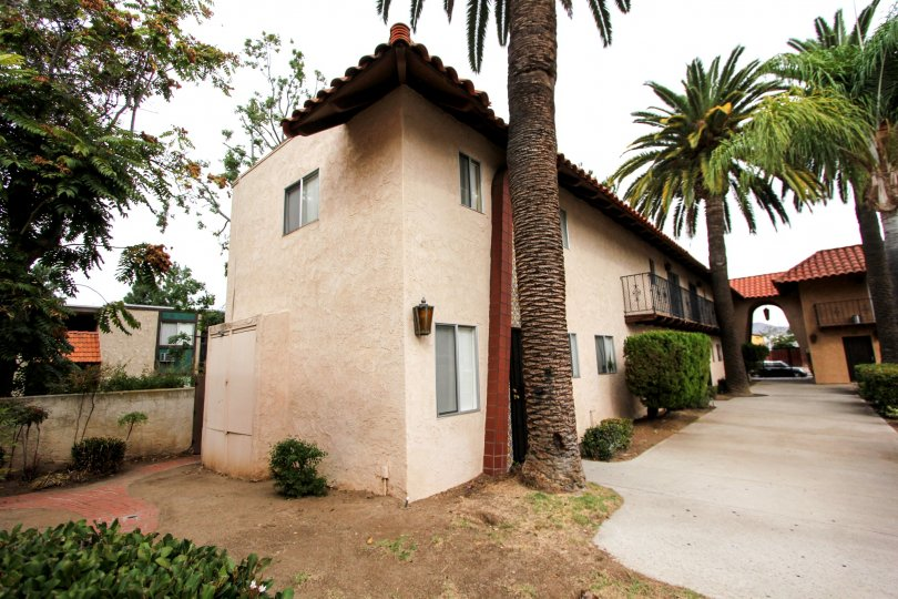 Two story residence with large walkway and yard at Anza Palms in El Cajon California