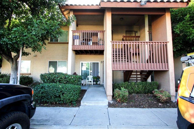 A view of the patios and balconies at Artesia, El Cajon, California