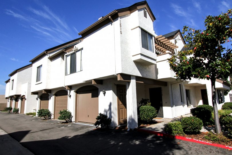 Beautiful stucco two story building with easy access.