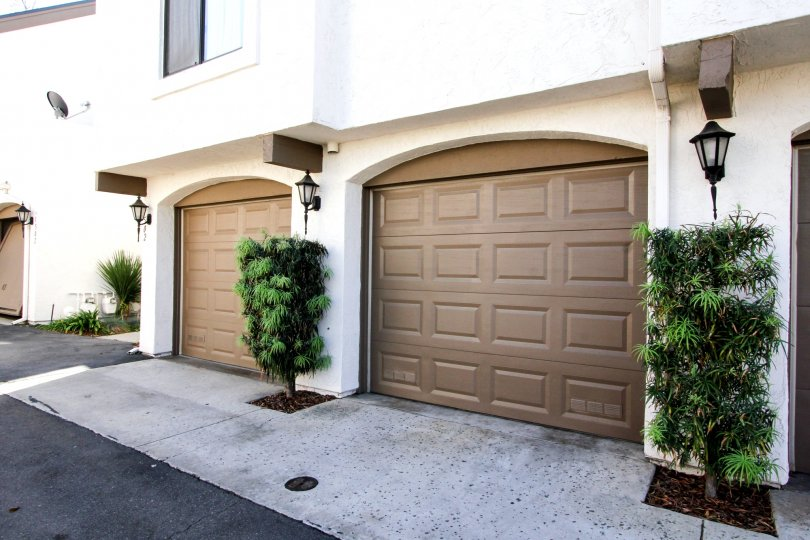 Two garages attached to residence at Beach Street in El Cajon California