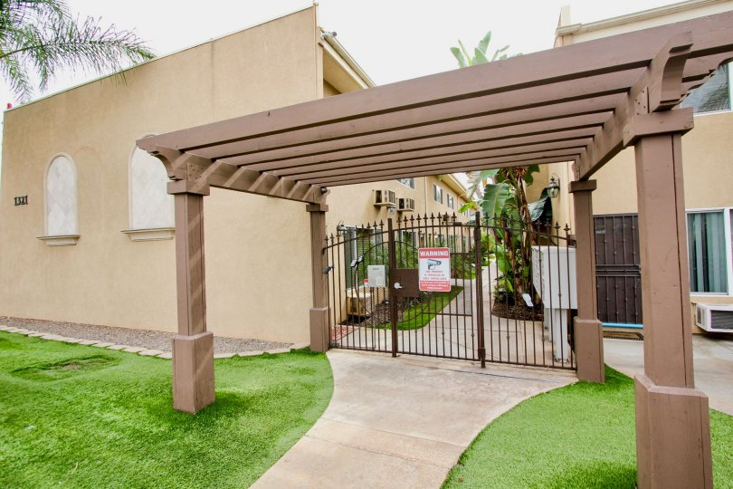 Gated access to Casa Bonita which features air conditoned units