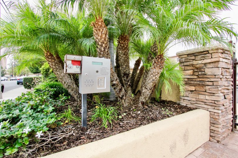 Security box with keypad at Cottate villas in El Cajon Caliofrnia