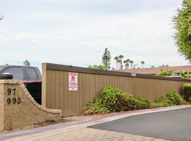 Parking area facility, along the lofty trees along the Heritage Grove