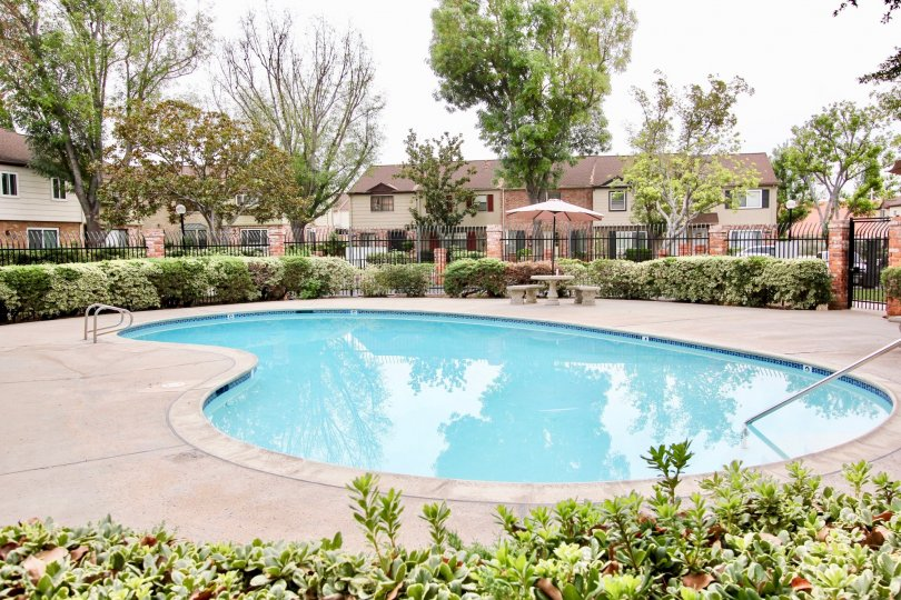 Community Pool at the Mollison Townhomes Apartments