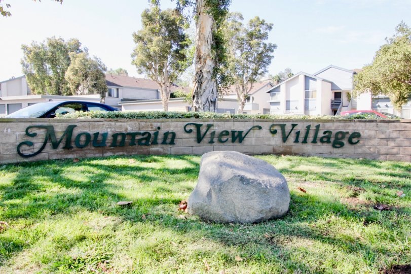 Entrance to Mountain View Village, El Cajon, California