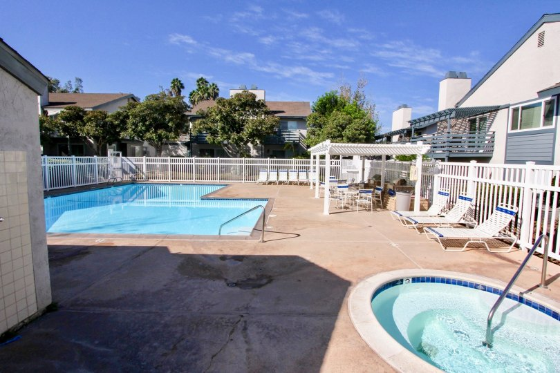 Hot tub and swimming pool at Mountain View Village in El Cajon California