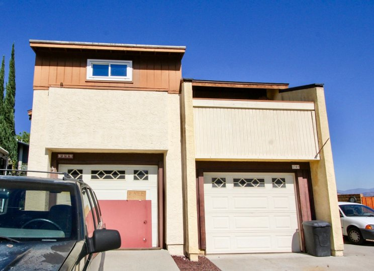 Two story town homes with garages at Ora Belle in El Cajon California.