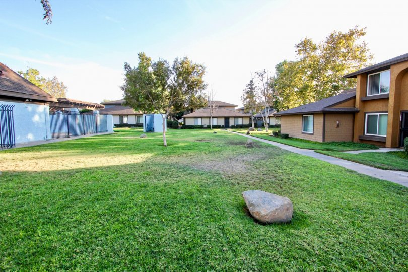 Spacious backyard of the Pepper Drive Estates in El Cajon.