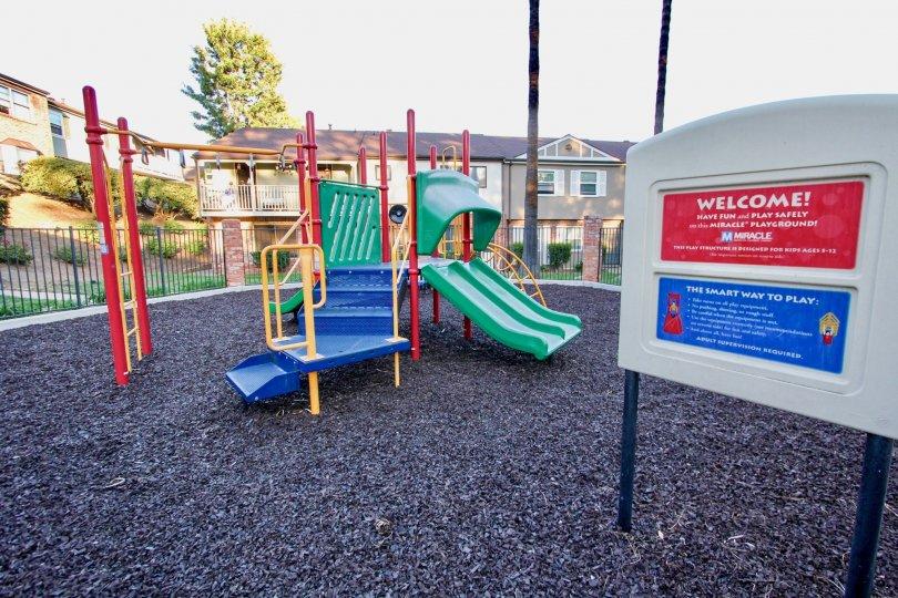 A playground in the Royal Gardens neighborhood of El Cajon, California.
