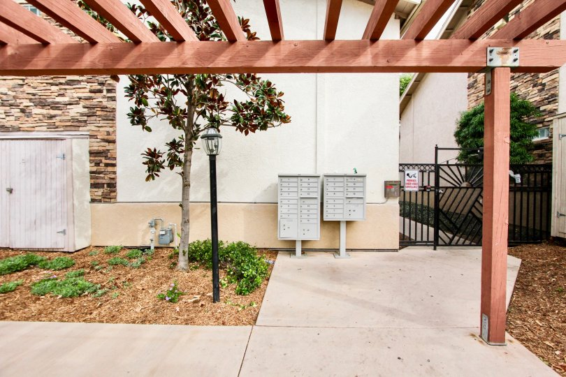 Walkway near residential units at South 2nd Grove in El Cajon California