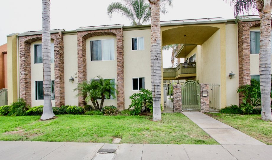 Two story building with security gate at Sun Ridge in El Cajon CA