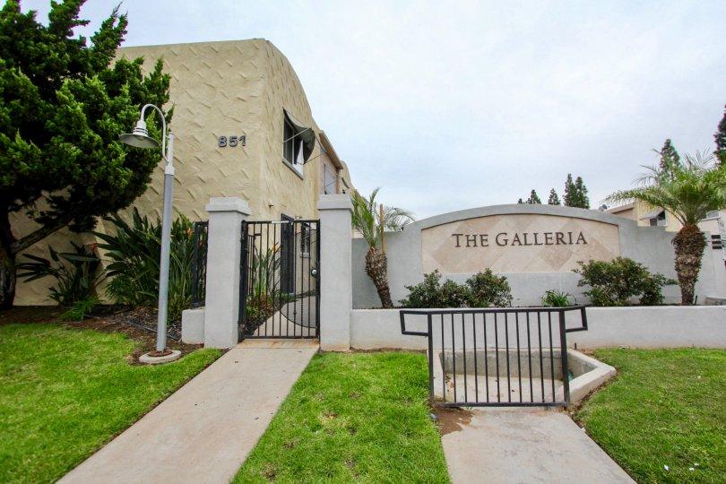 Security gateway at The Galleria in El Cajon California