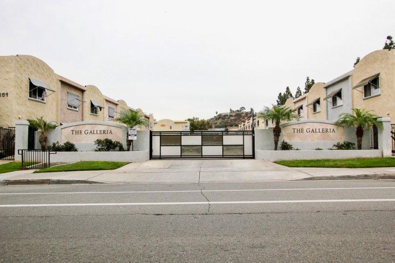 The Galleria community entrance in El Cajon, California