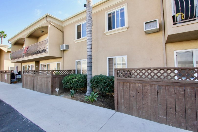 Walkway near residential units at The Willows in El Cajon California