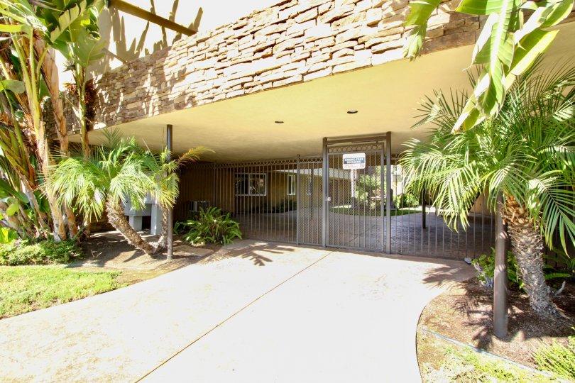 Black iron security entrance at Villas On Lexington in El Cajon California