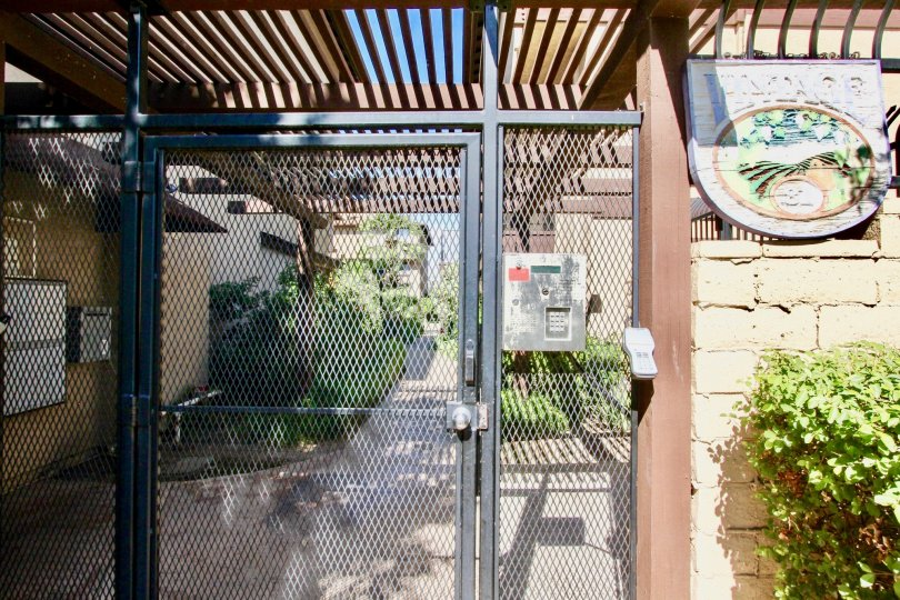 A gat entering the Vintage 81 secure community in El Cajon, California