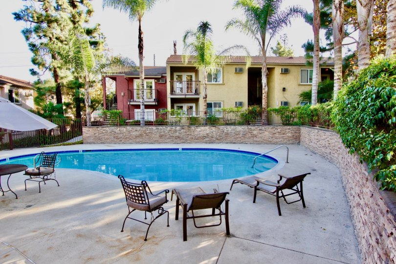 A quiet day at the pool at the Vista Del Sol community in El Cajon, CA