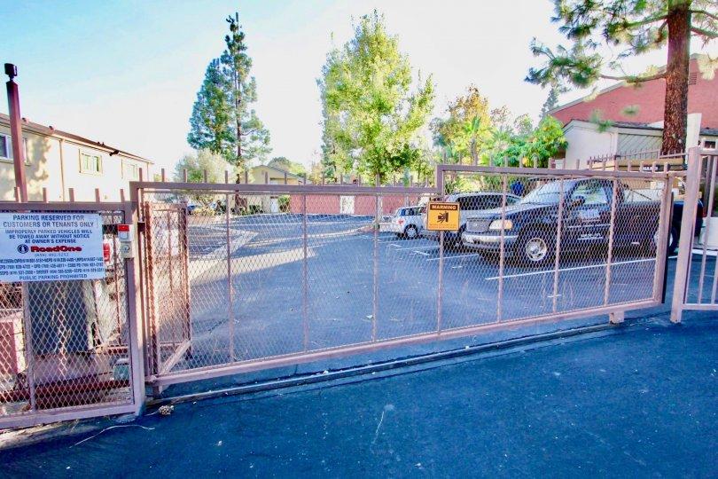 Parking lot near security gate at Vista Del Sol in El Cajon California