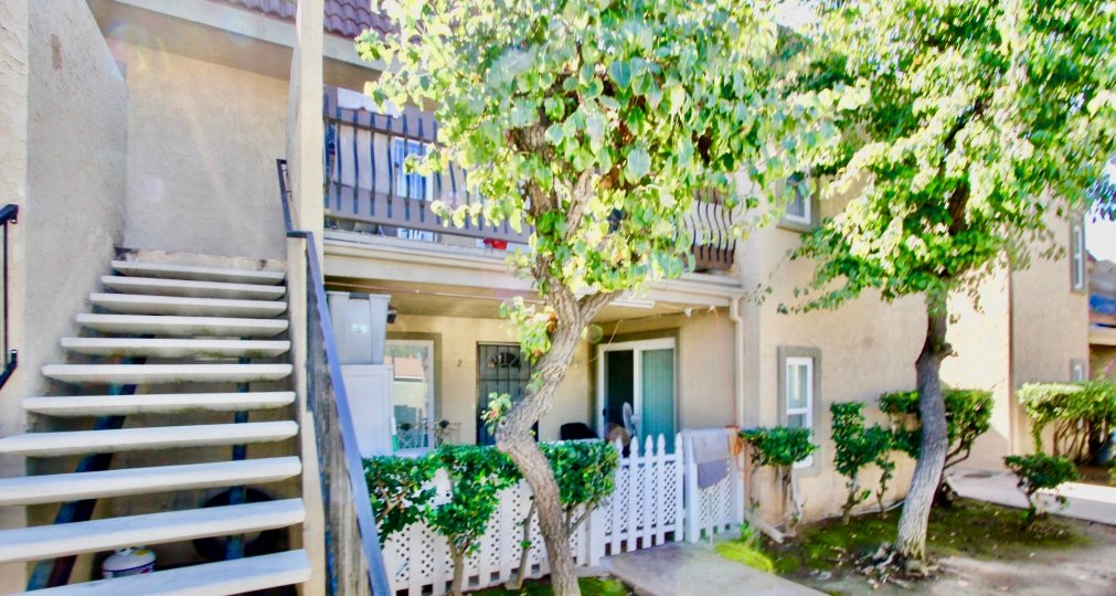 Two story town homes with stairway at Washington Heights in El Cajon California