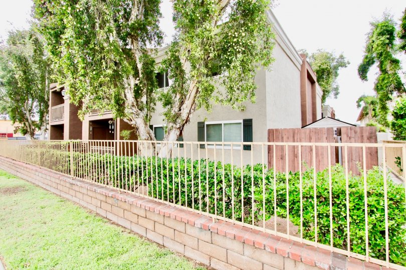 Apartments behind metal fence at Windsor Terrace in El Cajon California