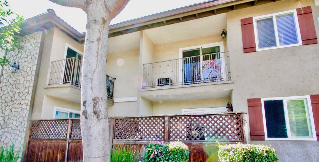 Two story housing with balcony at Woodland Village in El Cajon CA