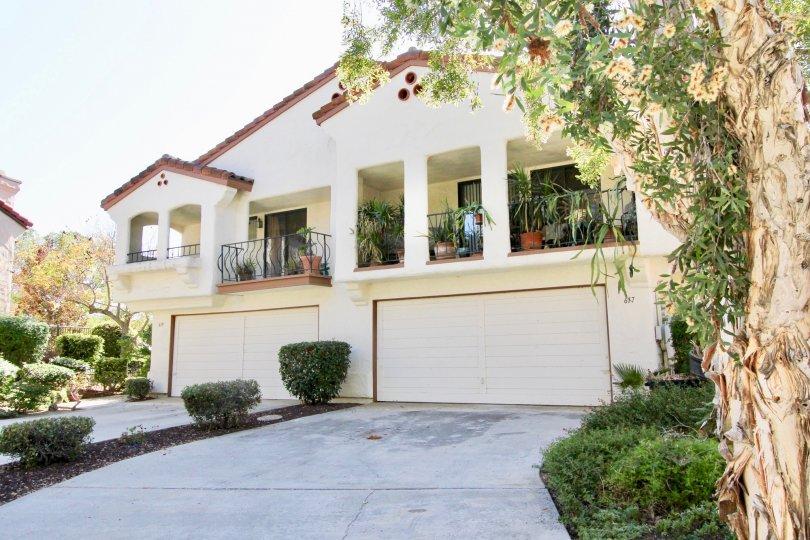 Duplex with balconies in Allegro Community of Escondido California