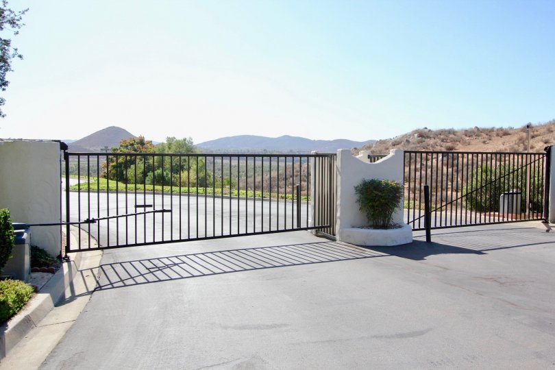 The gate leading to Allegro in Escondido California.