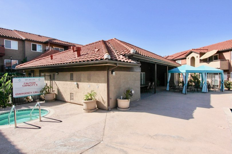 Hot tub and club house at Artesia in Escondido California