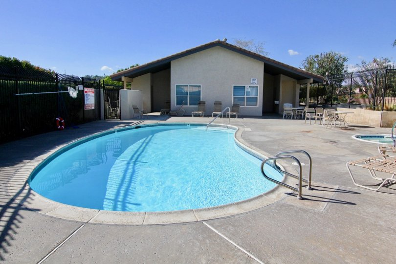 Swimming pool near clubhouse at Avocado Estates in Escondido California