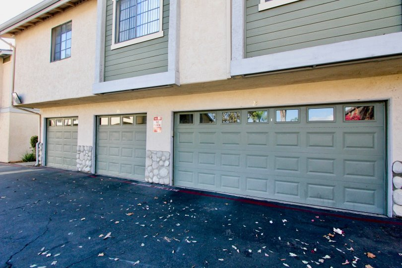 Housing with attached garages at Brighton Village in Escondido Califonia