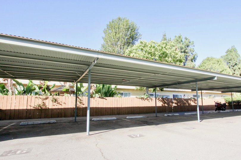 Broadway Pines, Escondido  , California, car parking, low shed