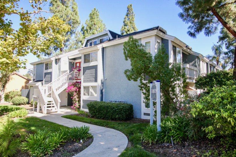 Camden Cove  ,: Escondido, California, white building, trees