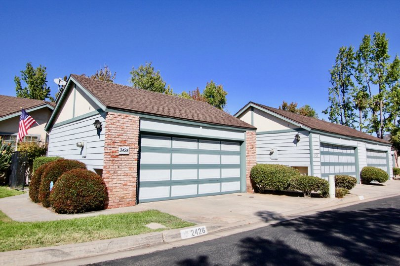 Car garages at Cape Concord in Escondido California