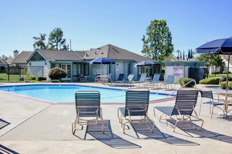 Pool and Pool House at Cape Concord in Escondo, CA