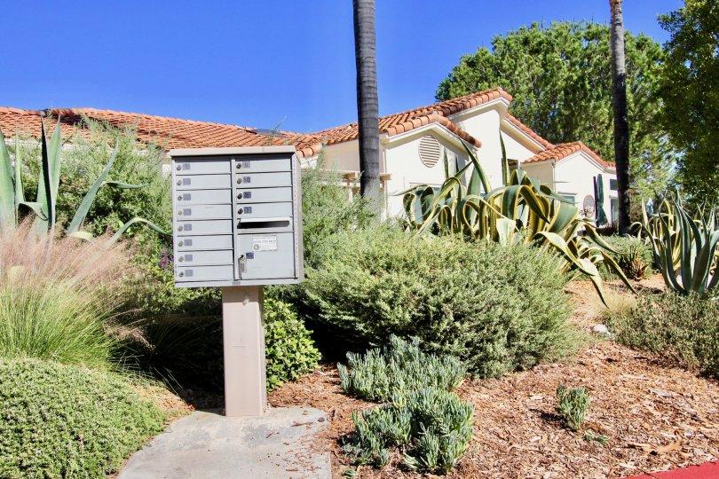 Community mailboxes in Castle Creek Villas in Escondido, California
