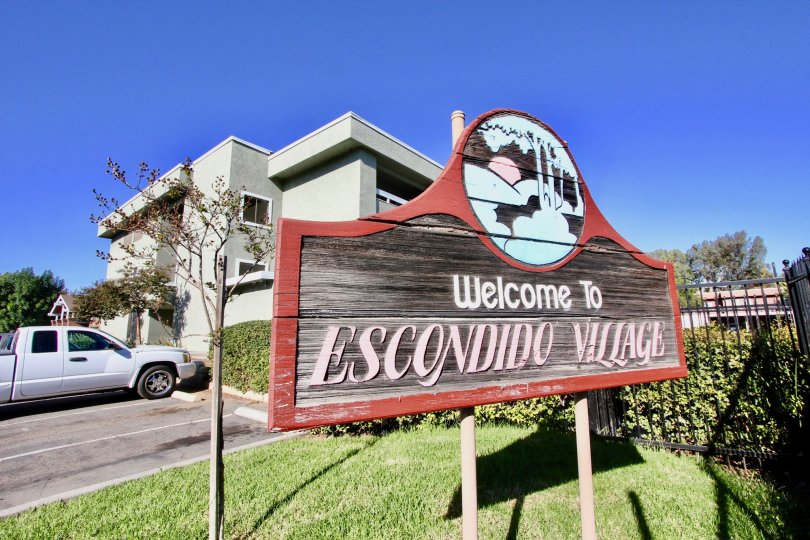 Escondido Village  , Escondido ,: California,sign post, name