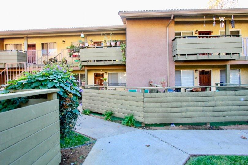 A colorful apartment complex called Grand Tree Park in the Escondido CA area