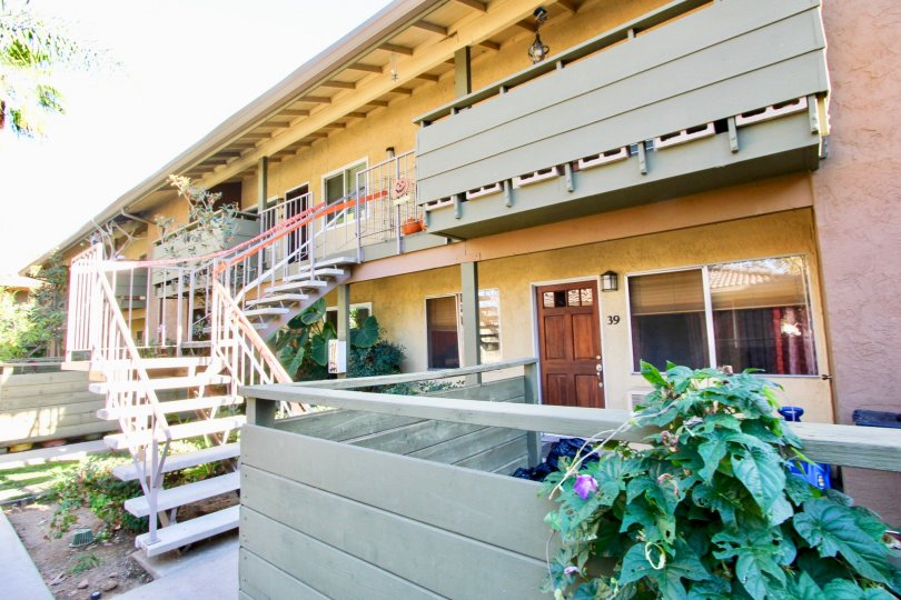 Residential building with stairway at Grand Tree Park in Escondido California