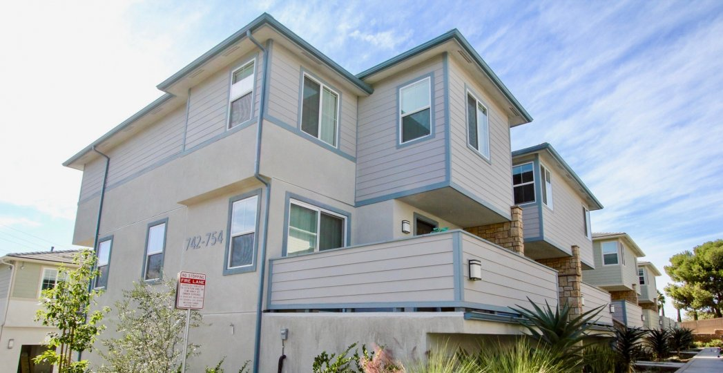 Three story residential units at Level Fifteen in Escondido California
