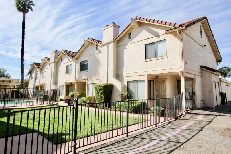 Gated community at Martin Court Gardens in Escondido California
