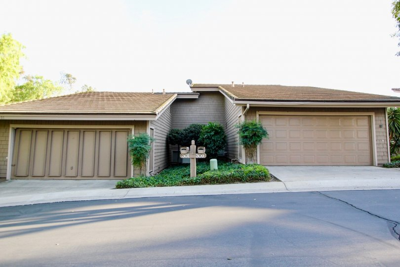Two garage buildings with yard at Morningside Woods in Escondido California