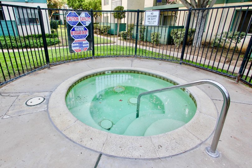 A gated lap pool in the Pepperwood Meadows community.