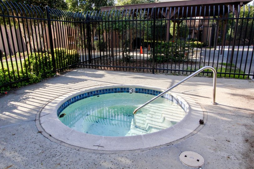 refreshing hot tub located in the Rock Springs West Community