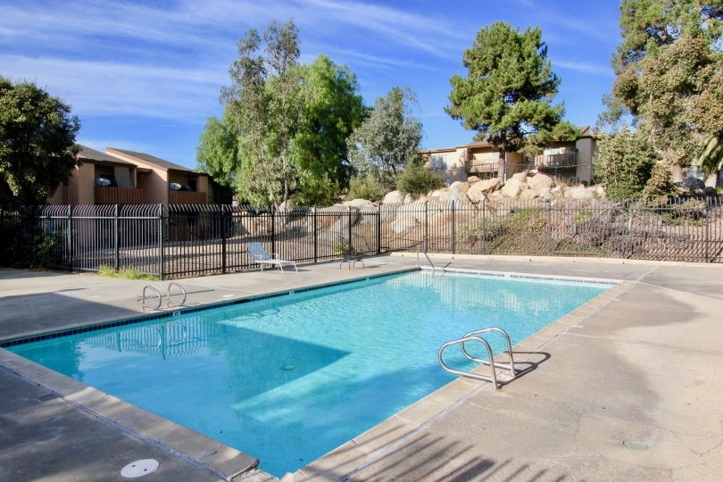 Image of a pool in Rock Springs West community, Escondido, California.