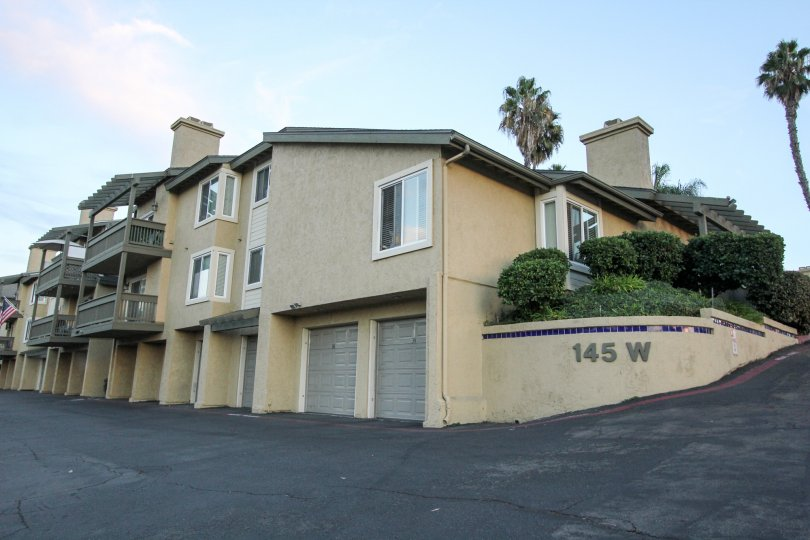 Housing units with attached garages at Sienna Hills in Escondido California