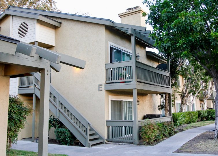Two story town-homes near sidewalk at Sienna Hills in Escondido California