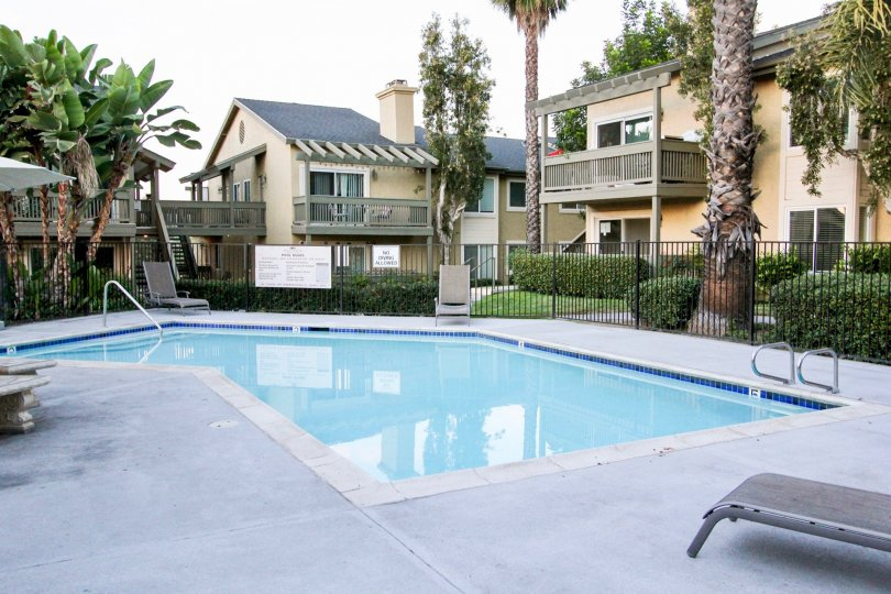 The pool area of a property in the Sienna Hills neighborhood
