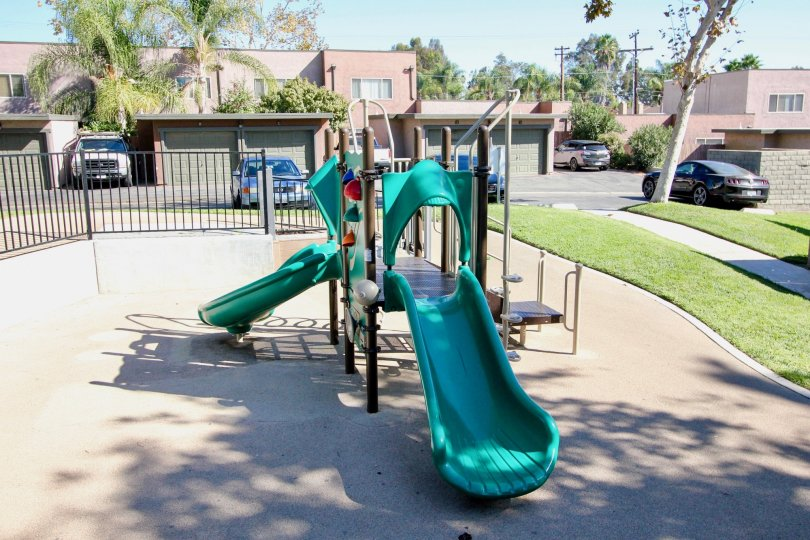 A playground for the children to enjoy on sunny days at Sommerset Woods.