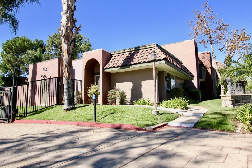 The sideview of a unit in the Sommerset Woods community in Escondido, CA.